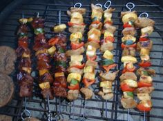 Kabobs! This marinade turned out just awesome:  1/2 cup soy sauce  1/2 cup ketchup 1/2 cup sugar 1/2 cup worstershire 4 garlic cloves