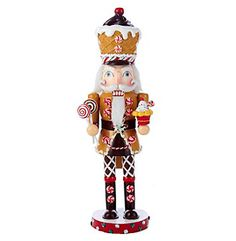 This delightful Kurt Adler Wooden Gingerbread Nutcracker will make a festive addition to your holiday décor. He is adorned with a gingerbread coat with peppermint swirled buttons and a waffle cone ice cream hat. Christmas Time Is Here, Pink Christmas, Christmas And New Year, Christmas Holidays, Christmas Ideas, Happy Holidays, Merry Christmas, Nutcracker Christmas Decorations, Christmas Ornaments