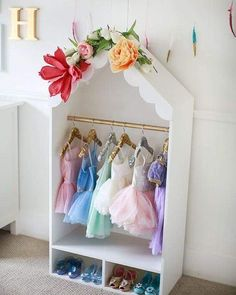 Sequin Hangers and HERE Tutu Dresses and HERE Dress-up Shoes and HERE and HERE I've posted a few photos on IG of the dress up closet Steve made for Harlan, and every time I do I get lots of questions about it – so I'm finally getting around to pos