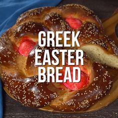 This Greek Easter bread is always favorite! And as delicious as it is meaningful for the season! Greek Easter Bread, Greek Bread, Greek Cake, Easter Bread Recipe, Greek Sweets, Greek Desserts, Greek Recipes, Greek Cookies, Greek Pastries