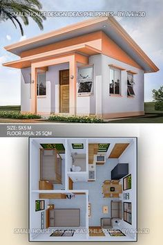 Small House Layout, Modern Small House Design, House Layout Plans, Small House Interior Design, Minimalist House Design, Little House Plans, Small House Plans, Sims House Design, Bungalow House Design