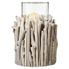 drift wood candle candleholder