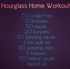 Hourglass Home Workout