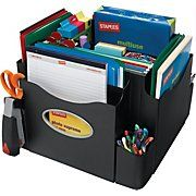 has the Staples® The Desk Apprentice™ Rotating Desk Organizer you need for home office or business. Shop our great selection of Plastic Desktop Organizers, Desktop Organizers, Storage / Boxes / Bins / Cabinets, Staples® Do Teacher Desk Organization, Desktop Organization, Storage Organization, Organizing Ideas, Cubicle Organization, Organized Teacher, Decluttering Ideas, Organizing Life, School Classroom