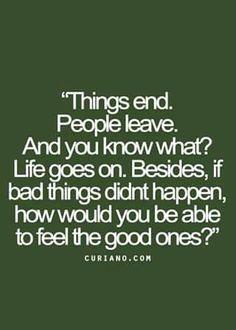 Things end...