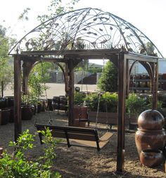 Metal Garden Arbor Marvellous Metal Arbor Design Ideas For Gazebo With Couple Of Swing Bench Rustic Arbor