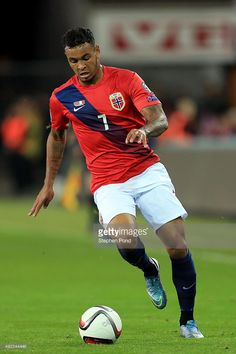Joshua King of Norway during the UEFA EURO 2016 Qualifying match between Norway and Malta at Ullevaal Stadion on October 10, 2015 in Oslo, Norway.