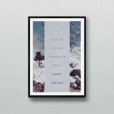 Typographic poster print