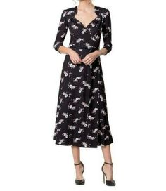 The Chantilly Money Bags midi dress by Leona Edmiston features black stretch fabric with a white and pink money bags print. It has a sweetheart neck-line and length sleeves with gathered shoulders. Australian Fashion Designers, Printed Bags, Charlie Brown, Stretch Fabric, Fashion Brands, Cold Shoulder Dress, Vintage Fashion, Drop, Clothes For Women