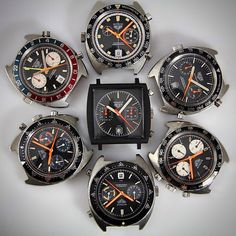 Vintage Heuer Photo Gallery- Share your photos Sport Watches, Cool Watches, Watches For Men, Citizen Watches, Tag Watches, Citizen Dive Watch, Rolex, Tag Heuer, Watch Brands