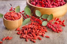 We're going crazy for goji berries over here. And pretty soon you will too. Don't let their tiny size fool you – not only are they the rulers of the superfood kingdom, they're also incredibly versatile (not to mention mighty delicious). Superfoods, Superfood Recipes, Healthy Recipes, Dried Goji Berries, Benefits Of Berries, Micro Nutrients, Berry, Dieta Detox, Most Nutritious Foods