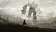 """""""The Shadow"""" by Mike Yakovlev on #INPRNT - #illustration #print #poster #art   Will ALWAYS pin Shadow of the Colossus"""