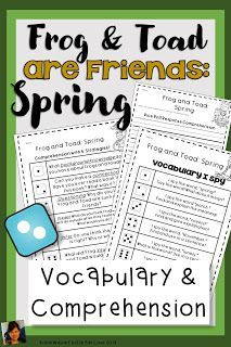 Frog and Toad are Friends: Spring Book Activities will help students understand plot with comprehension questions, games, vocabulary, grammar, fluency, phonics, comprehension strategies, sequencing, writing, and a comprehension test with answer key! Frog and Toad are Friends: Spring Activities is great for guided reading or whole group! Frog and Toad are Friends: Spring was written by Arnold Lobel and must be purchased separately. Spring Activities, Classroom Activities, Book Activities, Robin Wilson, Arnold Lobel, Spring Books, Comprehension Strategies, Frog And Toad, Guided Reading