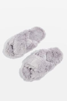 e7c62fef54f DOLLY Faux Fur Cross Slippers