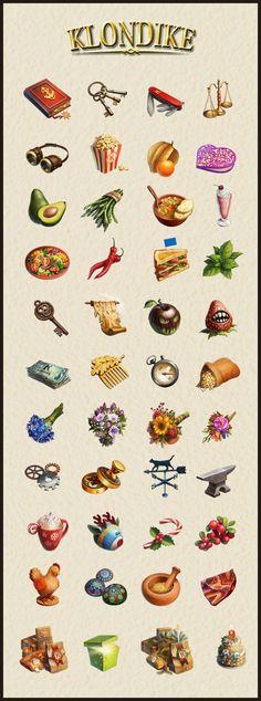 KLONDIKE game icons on Behance