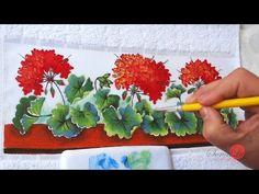 Mulher.com 29/05/2014 - Pintura de tecido rosas hortencias por Ana Laura…