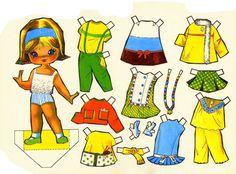 Desenhos Para Pinturas e Decoupage: Boneca de Papel