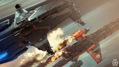 Welcome to some more Star Citizen, we are looking at the Hammerhead Gunship Info & Q&A that went up with additional infos on the Ship. Spaceship Design, Spaceship Concept, Concept Ships, Star Citizen, Video Game Artist, Star Wars Watch, Space Battles, Sci Fi Ships, Planes