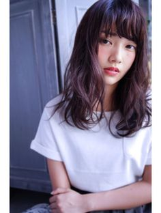 リラクシー×セミロング Daily Hairstyles, Summer Hairstyles, Girl Hairstyles, Long Layered Hair, Long Hair Cuts, Japanese Hairstyle, Hair Reference, Asian Hair, Pastel Hair