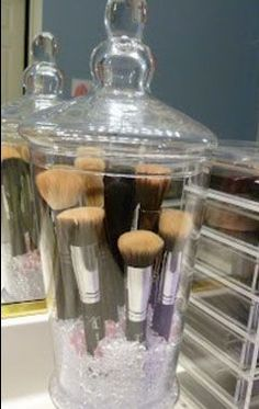 Click Pic for 34 DIY Makeup Storage Ideas | Glass Jars | Small Closet Organization Ideas | DIY Makeup Organizer Ideas