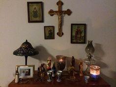My Catholic home altar. Very peaceful.