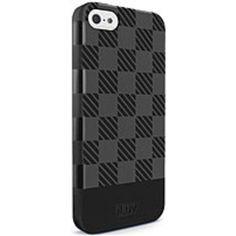 iLuv AI5GELCBK Gelato Checker Case for iPhone 5/5S - Black