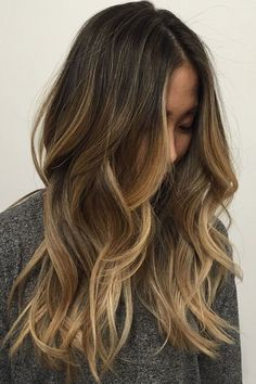 Dark Brown Hair with Caramel Blonde Highlights