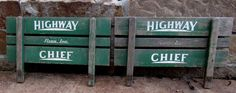 Two (2) Antique Vintage Side Panels for a 1940's Highway Chief Children's Wagon #HighwayChief