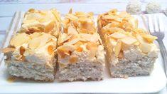 Diétás Raffaello szelet recept. Raffaello szelet készítése fehér liszt nélkül, cukormentesen, csökkentett szénhidráttartalommal! Diétás krémes sütemény életmódváltóknak, fogyni vágyóknak, diétázóknak! >>> Diabetic Recipes, Diet Recipes, Dessert Recipes, Healthy Recipes, Desserts, Salty Snacks, Health Eating, Sugar Free, Paleo