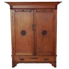 Early 20th Century Guatemalan Cabinet or Wardrobe with Drawers 1