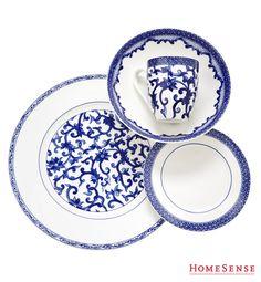 Serve up the style with classic porcelain blue-and-white ware for entertaining this fall. #serving #dining #plates #dishes #ideas / Recevez avec style grâce à cette vaisselle classique bleue et blanche parfaite pour cet automne. #service #repas #assiettes #vaisselle #idees  Enter Contest: http://www.homesense.ca/en/pinterest-contest.asp    Participer: http://www.HomeSense.ca/HomeSenseStyleFr  #HomeSenseStyle