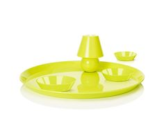 Fatboy Snacklight Serving Tray With Lamp & Snack Bowls Snack Bowls, Inspirational Gifts, Tapas, Usb, Snacks, Shoe Bag, Yellow, Outdoor Decor, Design