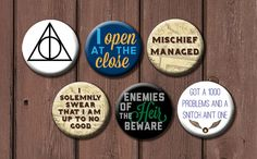 24 Harry Potter Buttons! - from the GeekStudio on Etsy