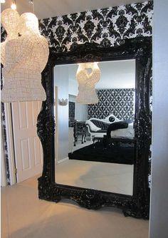 Ornate antique large floor mirror in bedroom floor for 6 foot floor mirror
