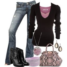 Layered Black and Pink :)