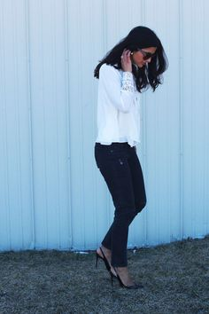 White Lace top by Za