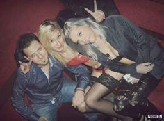 DJ Mirjami with her dancer - gig in Turkey