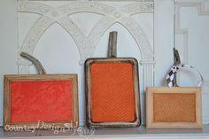 Framed Pumpkin Fall Decor Craft
