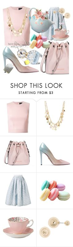"""Would you like a cup of tea?"" by lullulu ❤ liked on Polyvore featuring Simone Rocha, Madison Parker, Armani Jeans, Prada, House of Holland, Royal Albert, Anne Klein and Marc Jacobs"