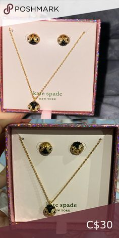 Kate spade owl pendant and studs boxed set New kate spade pendant and studs boxed set  Pretty owl shape kate spade Jewelry Necklaces