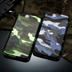 Fashion Army Camouflage Case For Iphone 6 6S 5S SE 6 Plus 6SPlus 7 7 Plus Soft TPU Premium Style Man's Back Silicon Gel Cover