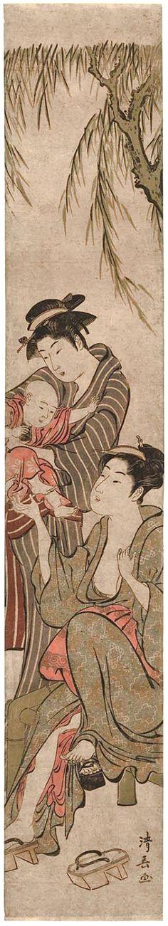 Kiyonaga Torri / Mutter mit Kind und Amme