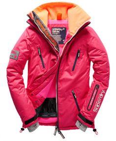 SUPERDRY-WOMENS-PINK-GLACIER-SNOW-SKI-JACKET-SIZE-L-UK-14