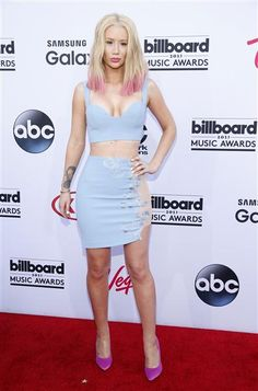 Iggy Azalea arrives at the 2015 Billboard Music Awards at the MGM Garden Arena in Las Vegas on May 17, 2015.