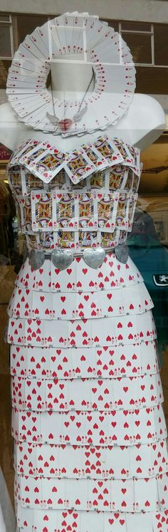 Queen of hearts playing card dress for mad hatters tea party at st gemmas shop…