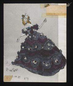 Costume designs by Cecil Beaton for the Metropolitan Opera's 1966 production of Verdi's La traviata From the V&A Theatre Costumes, Ballet Costumes, Cool Costumes, Vintage Costumes, Amazing Costumes, Fashion Design Sketches, Fashion Designers, Cecil Beaton, Metropolitan Opera
