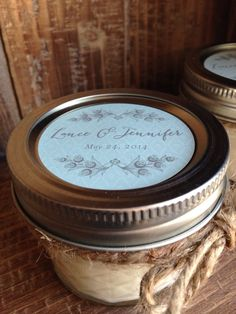 Reserved For Lauren Rustic Mason Jar 4 Oz Ball Quilted Jelly Soy Candles Wedding Favorswinter