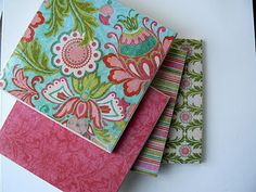 Tile and scrapbook paper coasters.  Children can help make or make entirely.