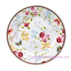 Vente d'Assiette 21cm chinese blanche Pip Studio en porcelaine pas cher