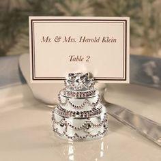 Silver Plated Wedding Cake Place Card Holder, 80 >>> For more information, visit image link.